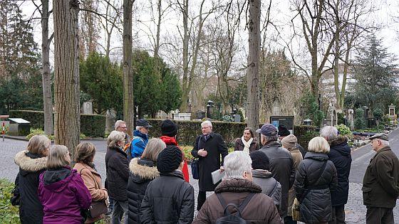 Wanderung am 10.02.2015 zum Hauptfriedhof Würzburg